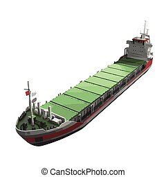 vector ship of tanker illustration