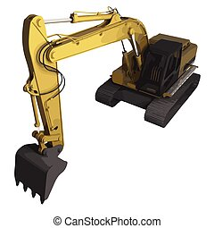vector high detailed excavator