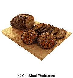 Fresh bread. Vector illustration