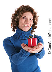 Happy Mother?s Day - A handsome young woman holding a small...