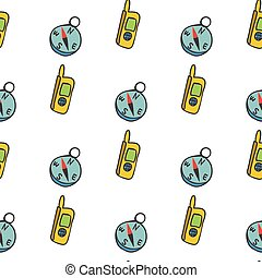 seamless pattern with a radio