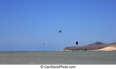 Kitesurfer in action on Fuerteventura