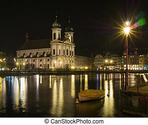 Jesuit Church in Lucerne City - Jesuit Church by the River...