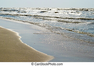 The coast of Sea Azov - The coast of the Sea of Azov Beach...