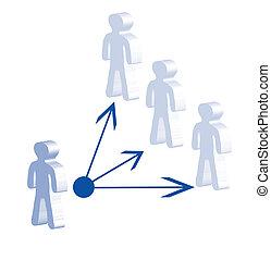 Delegate - A symbolic illustration of delegating. All...