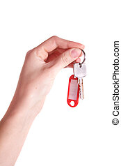 Handover Keys - Someone handovers some keys. All isolated on...