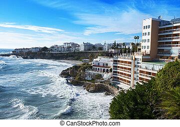 southern coast of Nerja, in Spain
