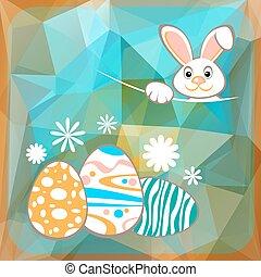 easter rabbit ang eggs