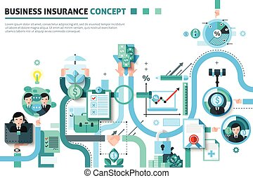 Business Insurance Concept Illustration - Business insurance...