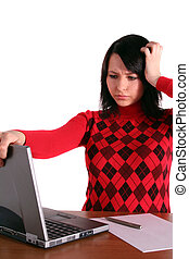 Stressed Young Woman - A young handsome woman got a problem...