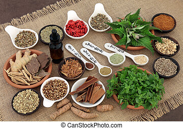 Herbs for Mens Health - Herb and spice and health food...