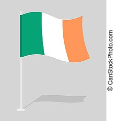 Flag of Ireland. Official national character of Irish State....