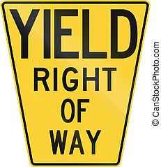 Original version of the Yield Sign in the United States with...