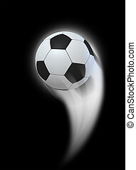 Swooshing Ball - A soccer ball swooshing into the atmosphere...