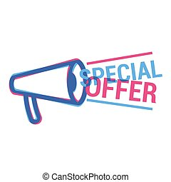Vector Special Offer eye catching label. Shopping