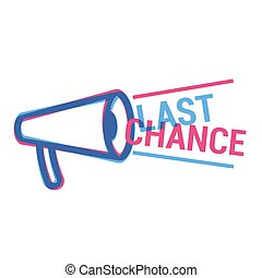 Vector Last Chance eye catching label. Shopping