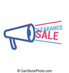 Vector Clearance Sale eye catching label. Shopping