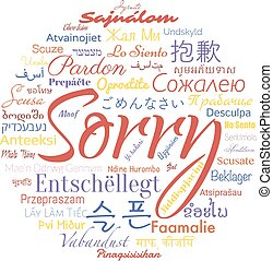 sorry foreign languages - Word sorry in foreign languages,...