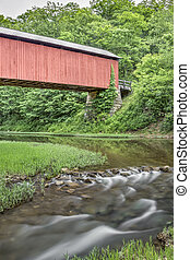 Little Muskingum River and Hume Covered Bridge - The...