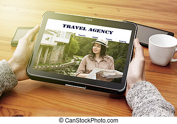visiting the website online travel agency