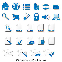 Icon Set Blue Tone - A set of various web icons. Very useful...