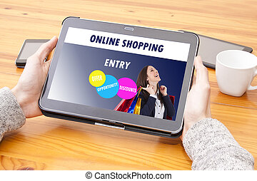 online shopping, shopping center website