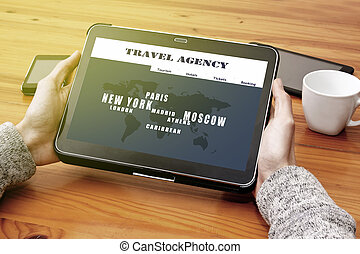 consult the online travel agency