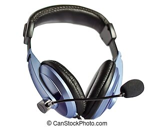 Headphones - Headphones on a white background
