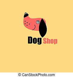 One dog portrait - to the pet store, dog training.