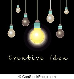 graphic light bulb idea concept - Vector idea concept...