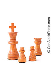 Castling - A typical chess move All isolated on white...
