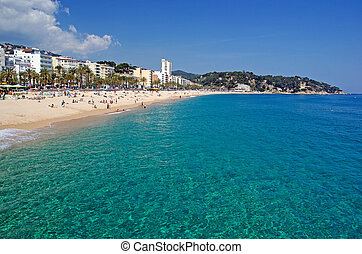 Seascape of Lloret de Mar beach, Spain. More in my gallery.