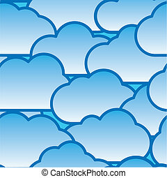 Abstract day clouds background. Seamless pattern. White -...