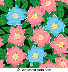 Abstract flowers background Seamless pattern Vector...