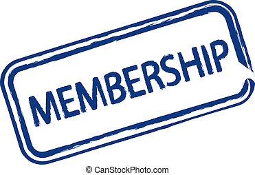Membership - An illustrated stamp that declares a membership...