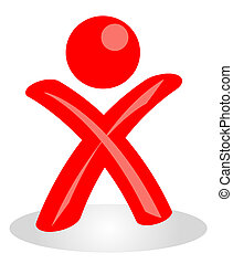 Cheering Person - A stylized person cheering. All isolated...