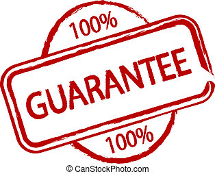 Guarantee - An illustrated stamp that says that something...