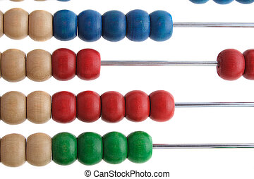 Preschool - A simple abacus to calculate. All isolated on...