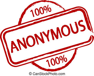 Anonymous - An illustrated stamp that says something is 100%...