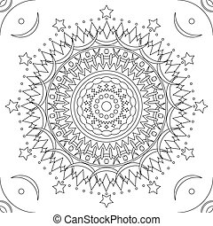 Seamless mandala outline pattern - Seamless mandala pattern...