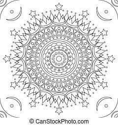 Seamless mandala outline pattern - Seamless mandala pattern...