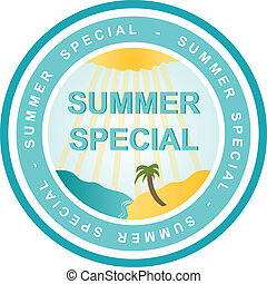 Sommer Special - An illustrated badge that declares a summer...