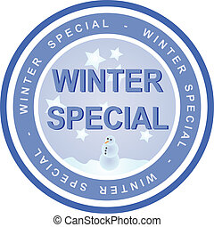 Winter Special - An illustrated badge that declares a winter...
