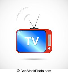 Icon of television in color