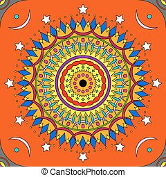 Seamless colorful mandala pattern in vivid colors
