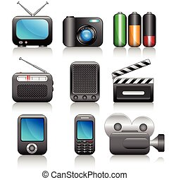 Icon set - Web icons set: internet theme 9 icons