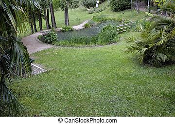 Botanical Garden landscape in Arco, Italy