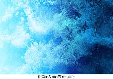 photo texture of ice - bright interesting photo blue winter...