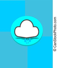 drizzle - graphic design cloud for bubble in smartphone and...