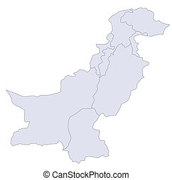 Map Pakistan - A stylized map of Pakistan showing the...